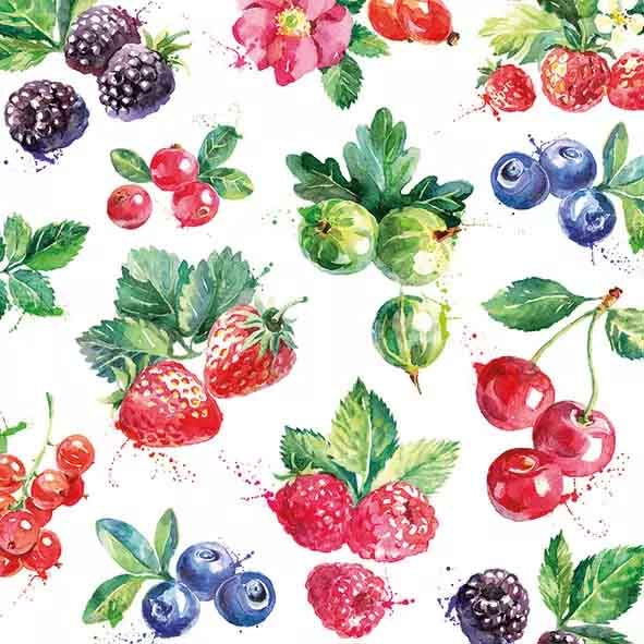 6032 Servilleta decorada Frutas