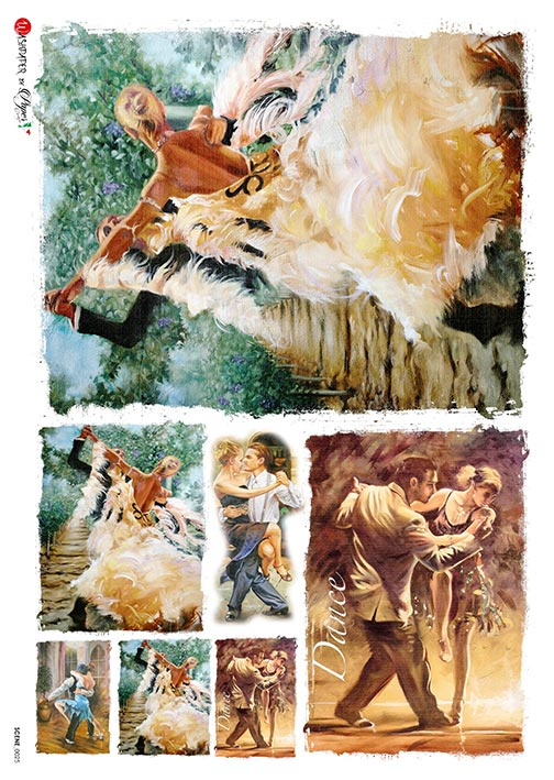 A 2168 Servilleta decorada Papel de arroz italiano