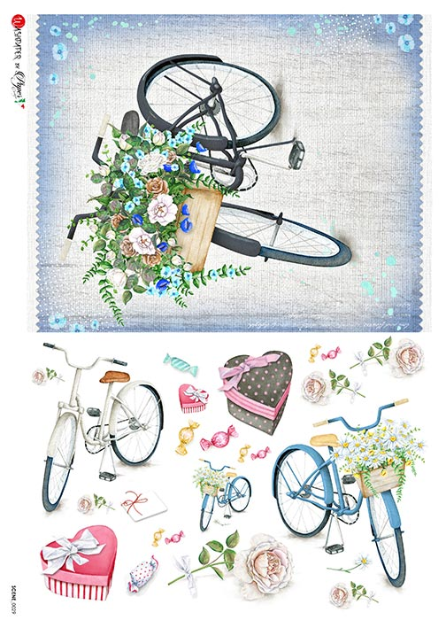 A 2169 Servilleta decorada Papel de arroz italiano