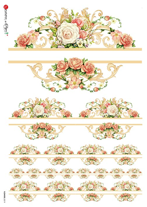 A 2170 Servilleta decorada Papel de arroz italiano
