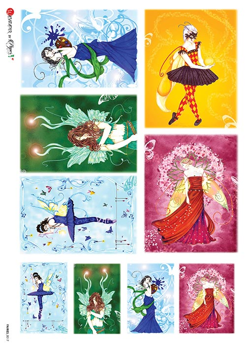 A 2171 Servilleta decorada Papel de arroz italiano
