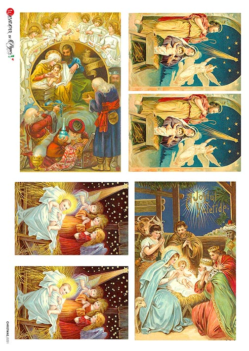 A 2172 Servilleta decorada Papel de arroz italiano
