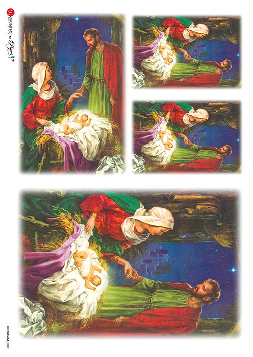 A 2173 Servilleta decorada Papel de arroz italiano