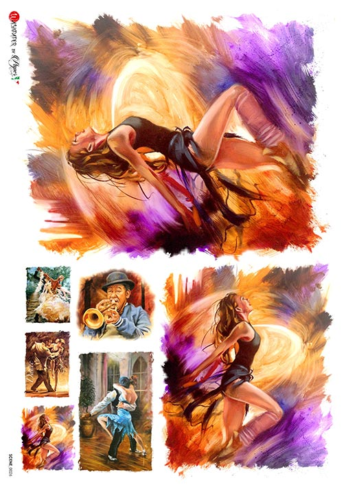 A 2175 Servilleta decorada Papel de arroz italiano