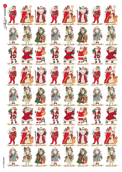 A 2176 Servilleta decorada Papel de arroz italiano