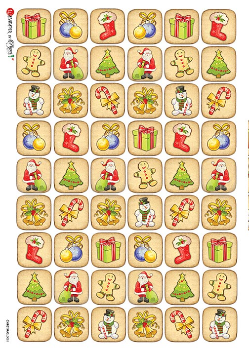 A 2177 Servilleta decorada Papel de arroz italiano