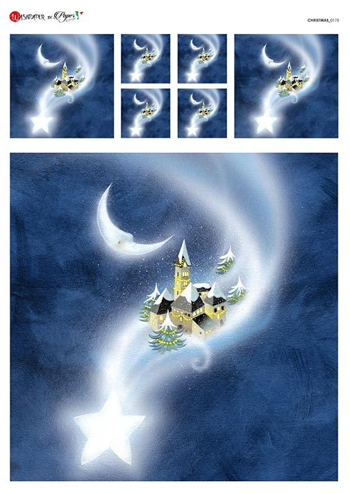 A 2178 Servilleta decorada Papel de arroz italiano