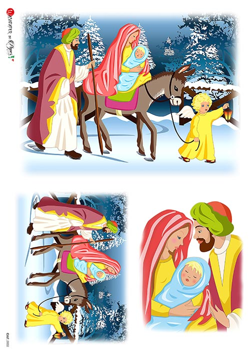 A 2179 Servilleta decorada Papel de arroz italiano