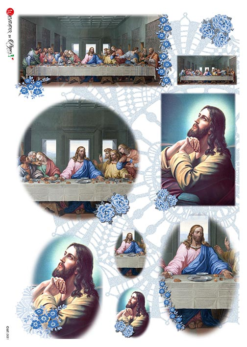 A 2180 Servilleta decorada Papel de arroz italiano