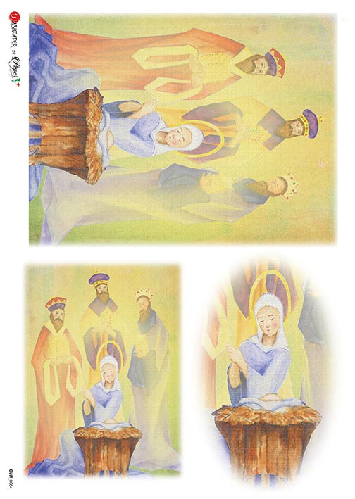 A 2181 Servilleta decorada Papel de arroz italiano
