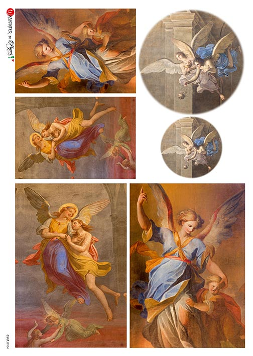 A 2182 Servilleta decorada Papel de arroz italiano