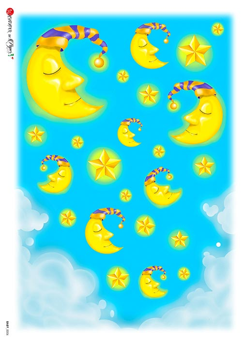 A 2183 Servilleta decorada Papel de arroz italiano