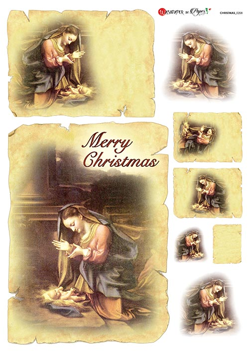 A 2184 Servilleta decorada Papel de arroz italiano
