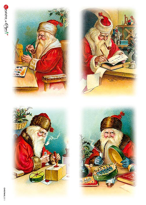 A 2185 Servilleta decorada Papel de arroz italiano