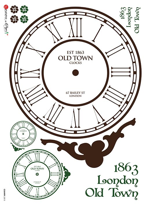 A 2186 Servilleta decorada Papel de arroz italiano