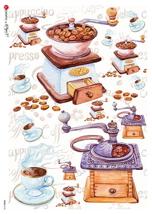 A 2187 Servilleta decorada Papel de arroz italiano
