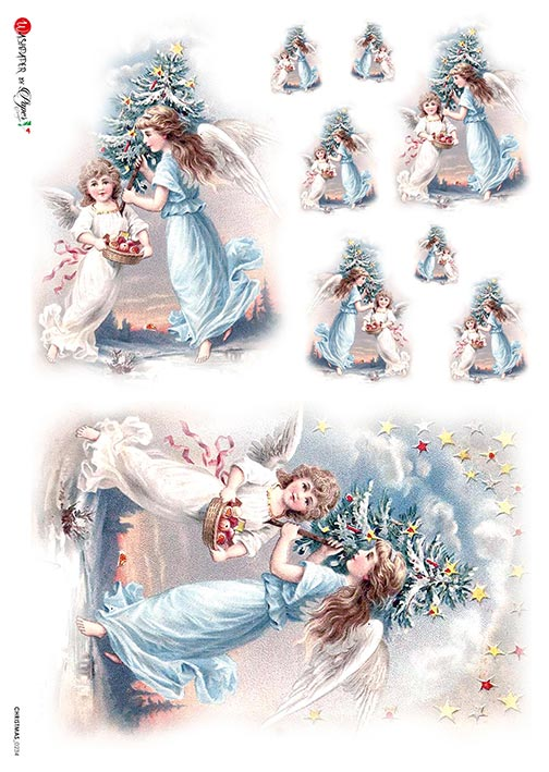 A 2188 Servilleta decorada Papel de arroz italiano