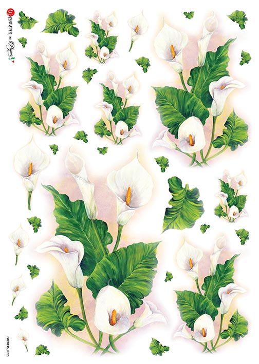 A 2191 Servilleta decorada Papel de arroz italiano